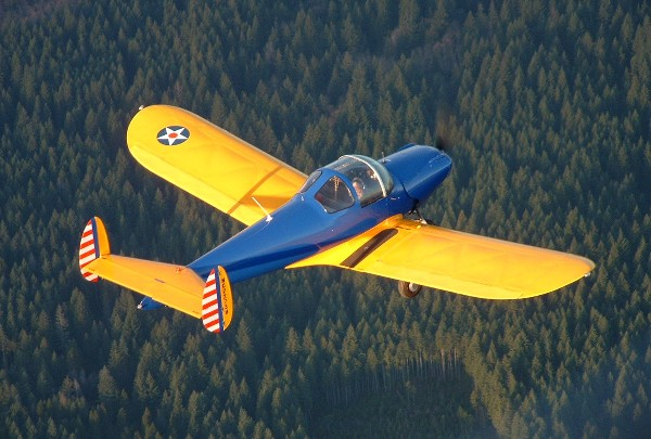 Here is NC2273H a 1946 0-200 powered 415D with Paul and Winona Anton aloft on the 100th anniversary of flight 12/17/03 over Washington State